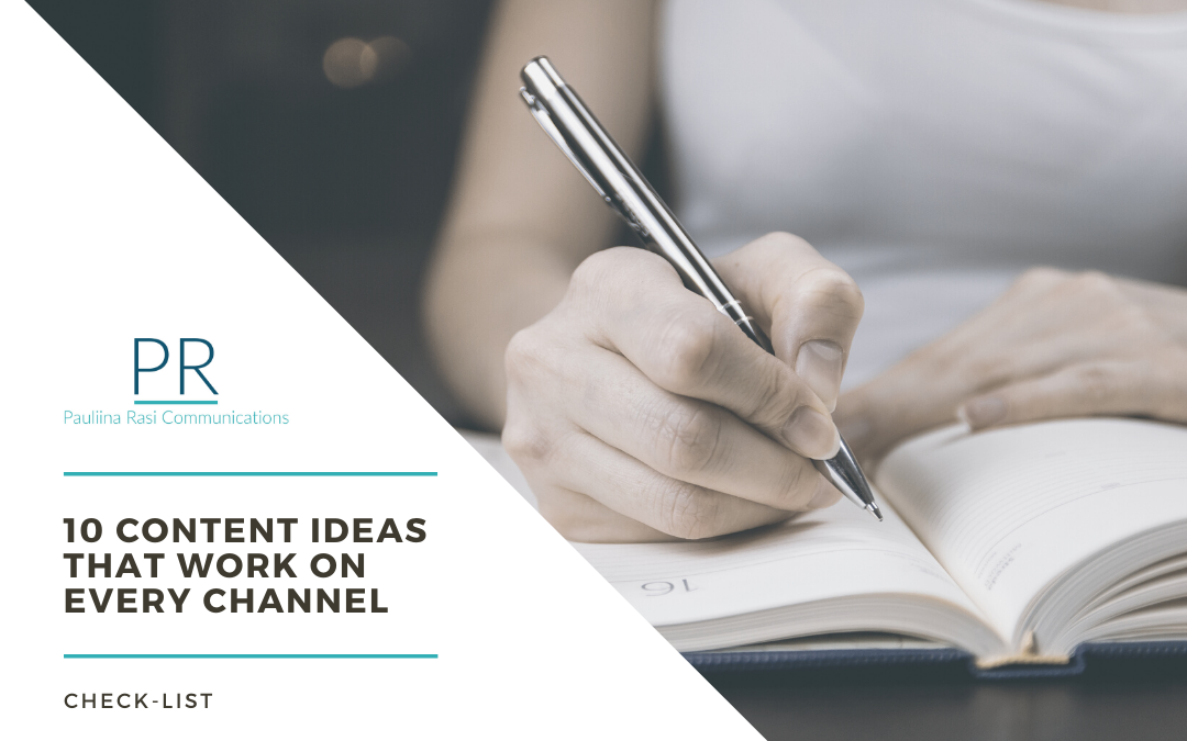 10 content ideas for you to steal and make yours