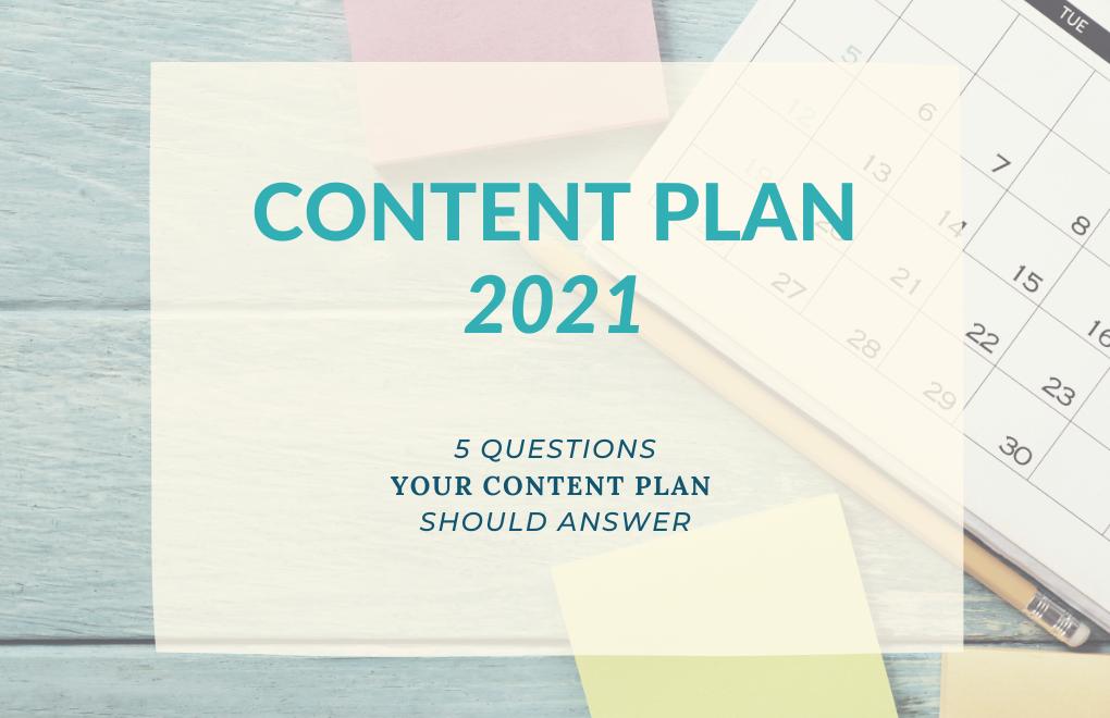 Content Plan 2021 image.