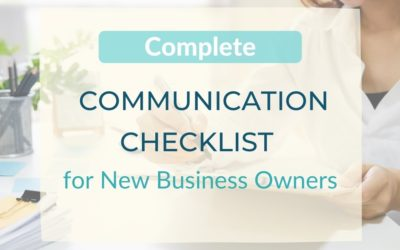 Complete Communication Checklist for a New Business